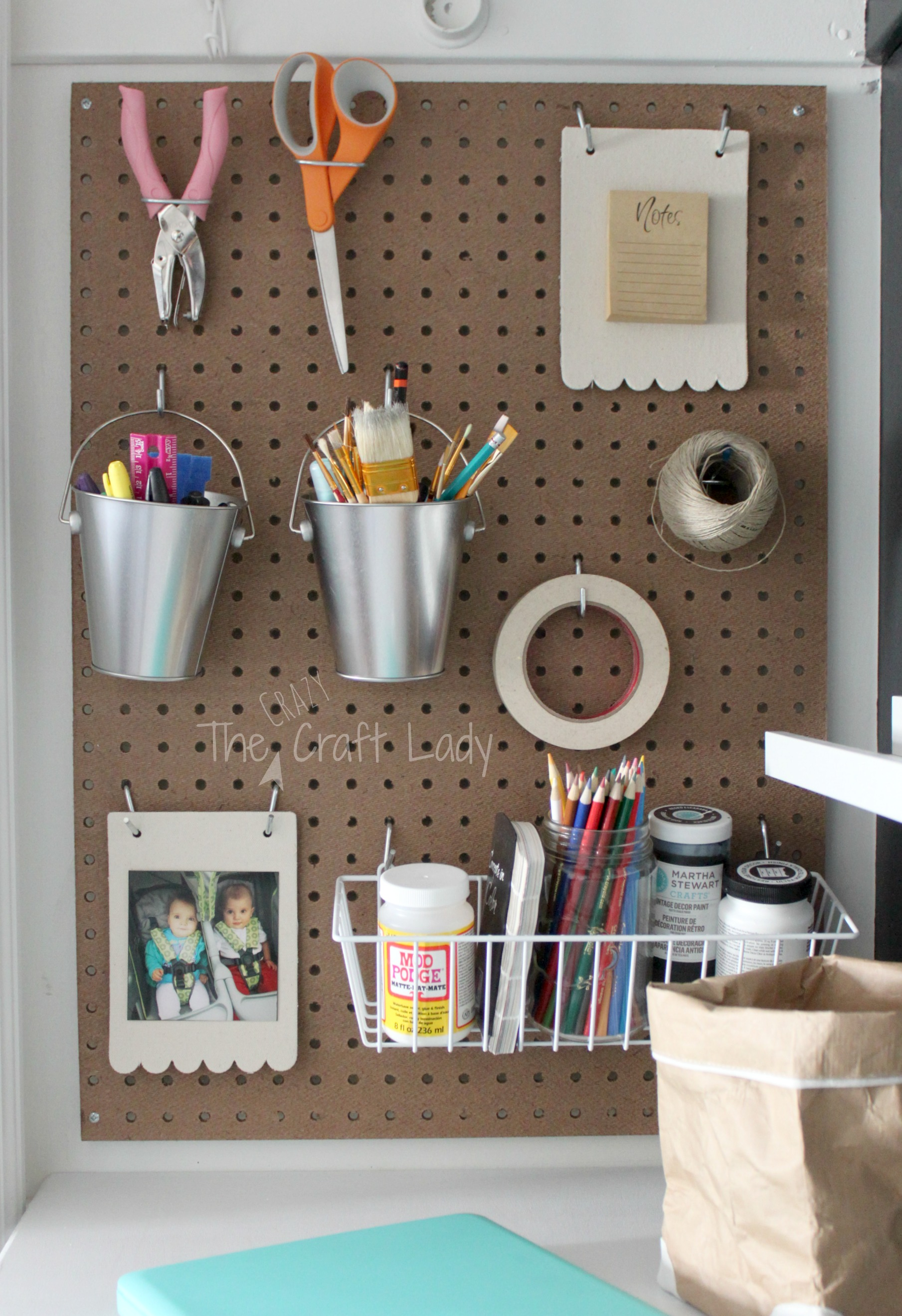 10 Cool Ways To Organize With A Pegboard3