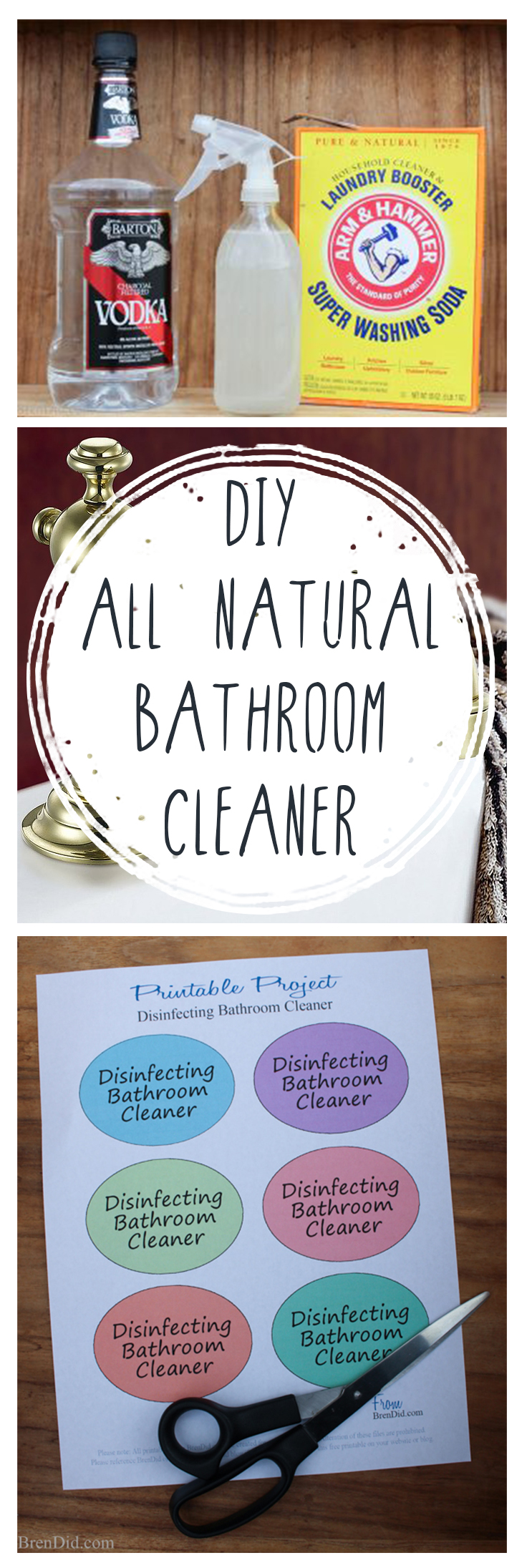 diy all natural bathroom cleaner - Bathroom Cleaning Hacks