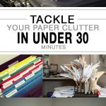 Home organization, getting rid of paper clutter, how to get rid of paper clutter, popular pin, clutter free home, live clutter free.