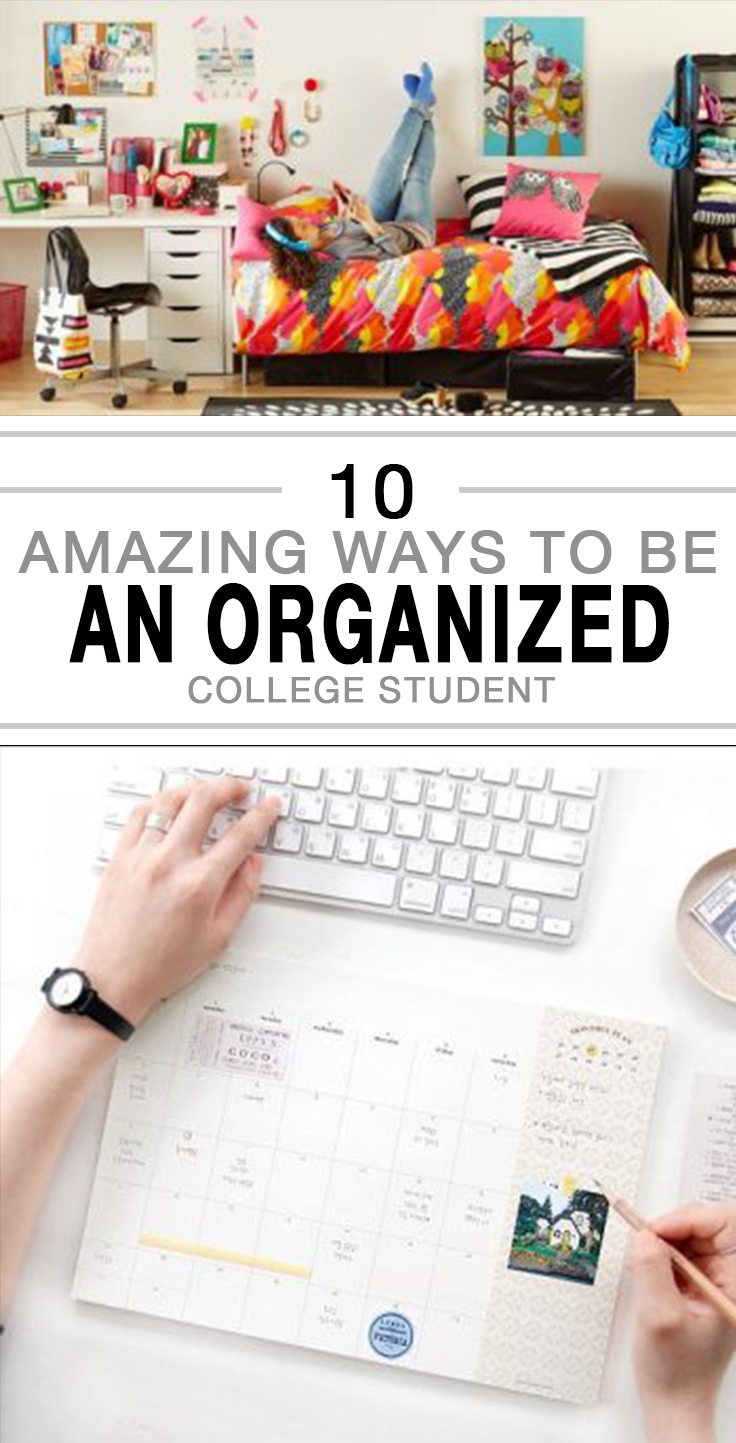 College, college organization hacks, organized college student, staying organized in college, popular pin, organization, DIY organization, easy organization hacks.