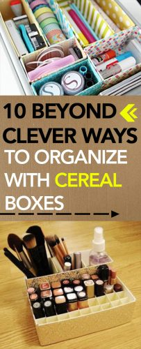 10 Beyond Clever Ways to Organize with Cereal Boxes