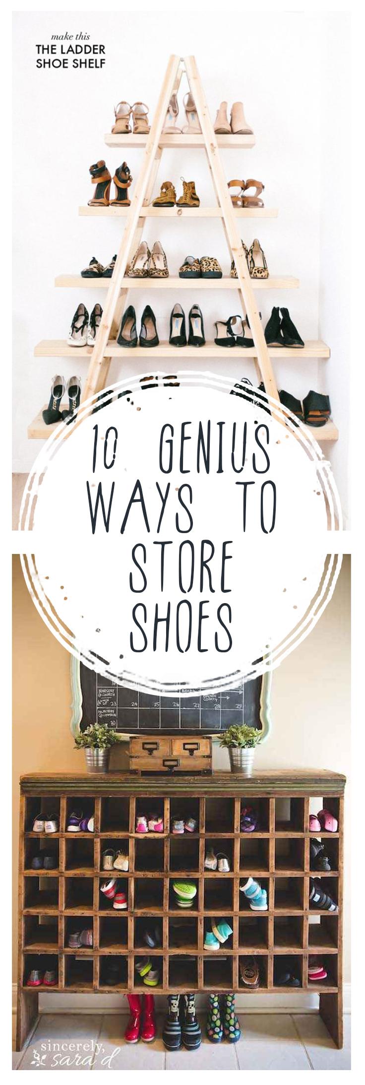 Shoe storage, organizing shoes, closet organization, DIY closet, DIY closet organization, easy closet organization, DIY home, DIY storage, popular pin.