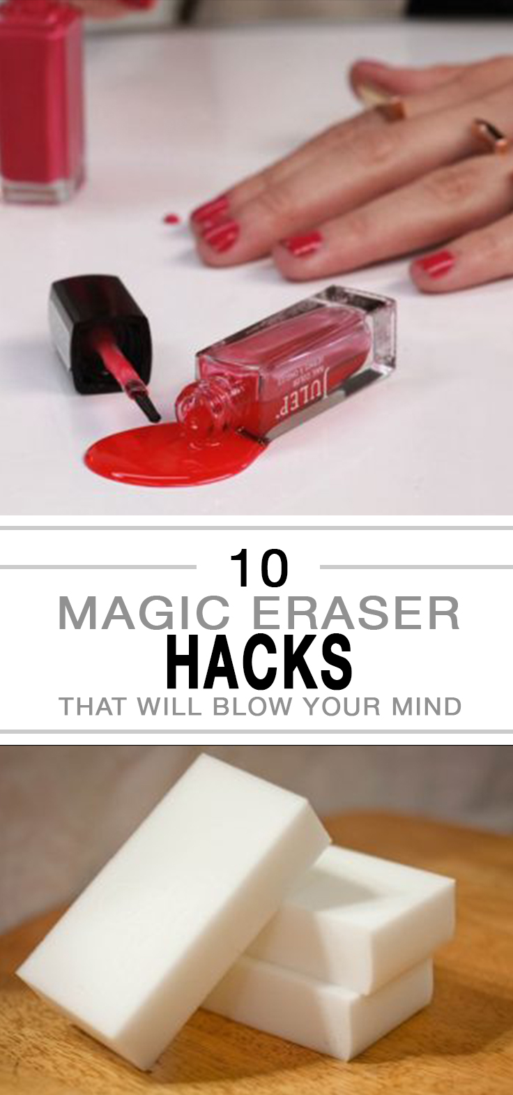 Magic erasers, magic eraser hacks, things to do with magic erasers, popular pin, cleaning tips, cleaning hacks, DIY cleaning, DIY home