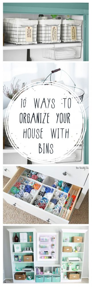 organization, organizing hacks, stay organized, home, home decor, cleaning, cleaning tips, diy organization, organize your home with bins, organize with bins.