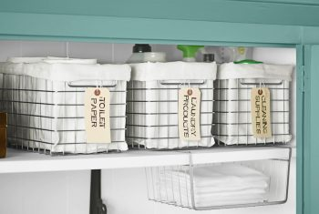 10 Ways to Organize Your House with Bins2