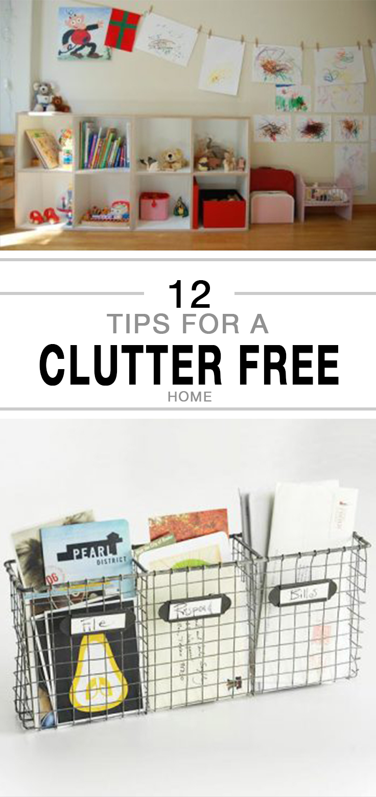 12 Tips for a Clutter Free Home -