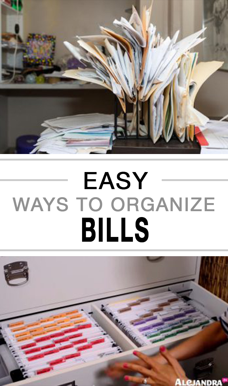 How to organize bills, organization, DIY home organization, popular pin, clutter free, organize your paper clutter.