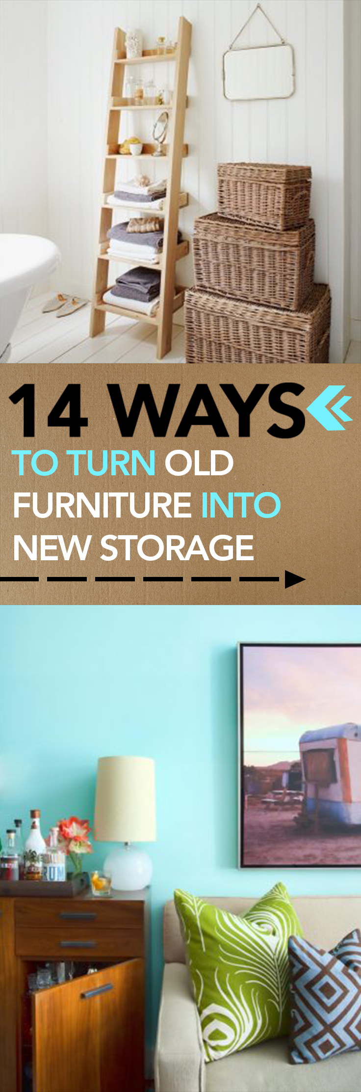 14 Ways to Turn Furniture into Storage