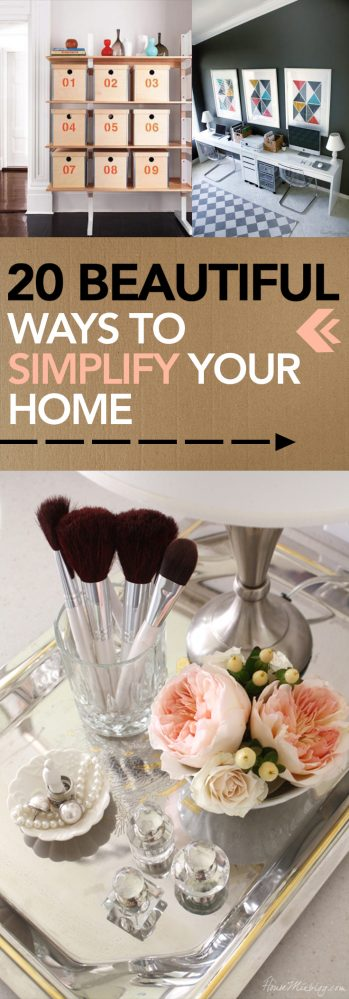 Simplify your home, simple living, simple home, popular pin, home decor, clutter free living, clutter free life.