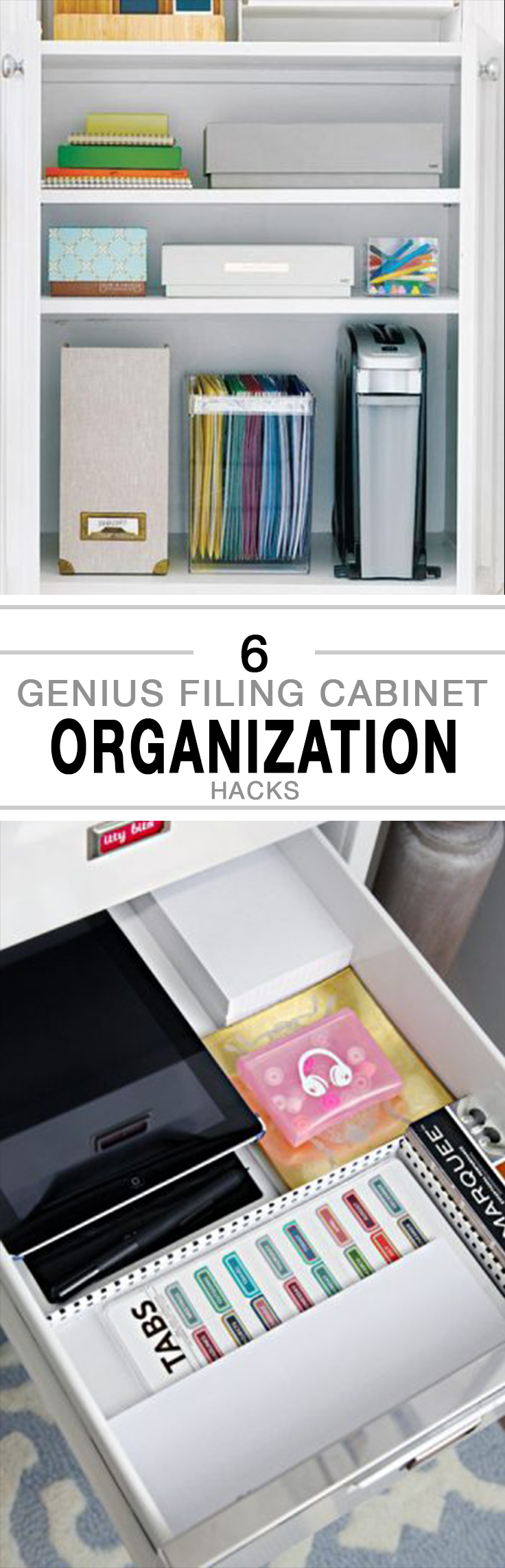 Filing cabinet organization hacks, organization hacks, easy organization, DIY organization, popular pin, organized home.